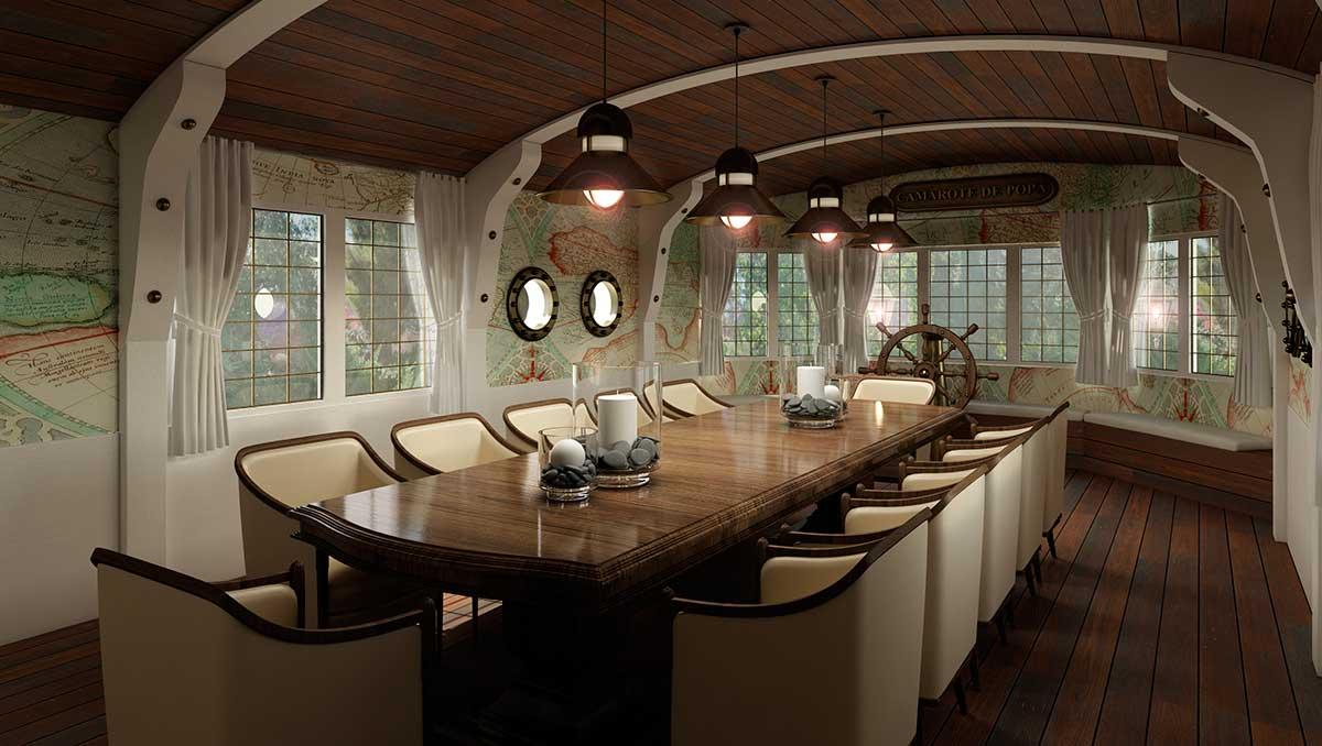 Salón de banquetes temático